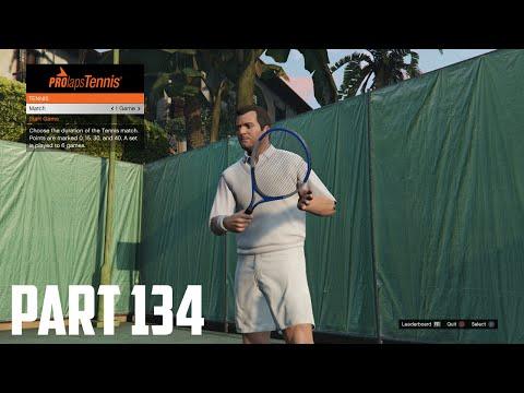 Grand Theft Auto V - 100% Walkthrough Part 134 [PS4] – Tennis