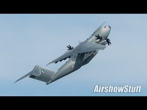 French Air Force A400M Atlas Demo - Melbourne Air and Space Show 2017
