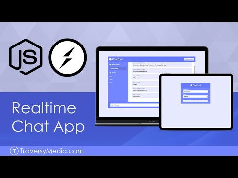 Realtime Chat With Users & Rooms - Socket.io, Node & Express
