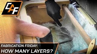 How many layers of fiberglass are needed for a subwoofer box? – Fabrication Friday
