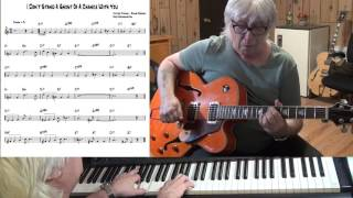 I Don't Stand A Ghost Of A Chance With You - Jazz guitar & piano cover