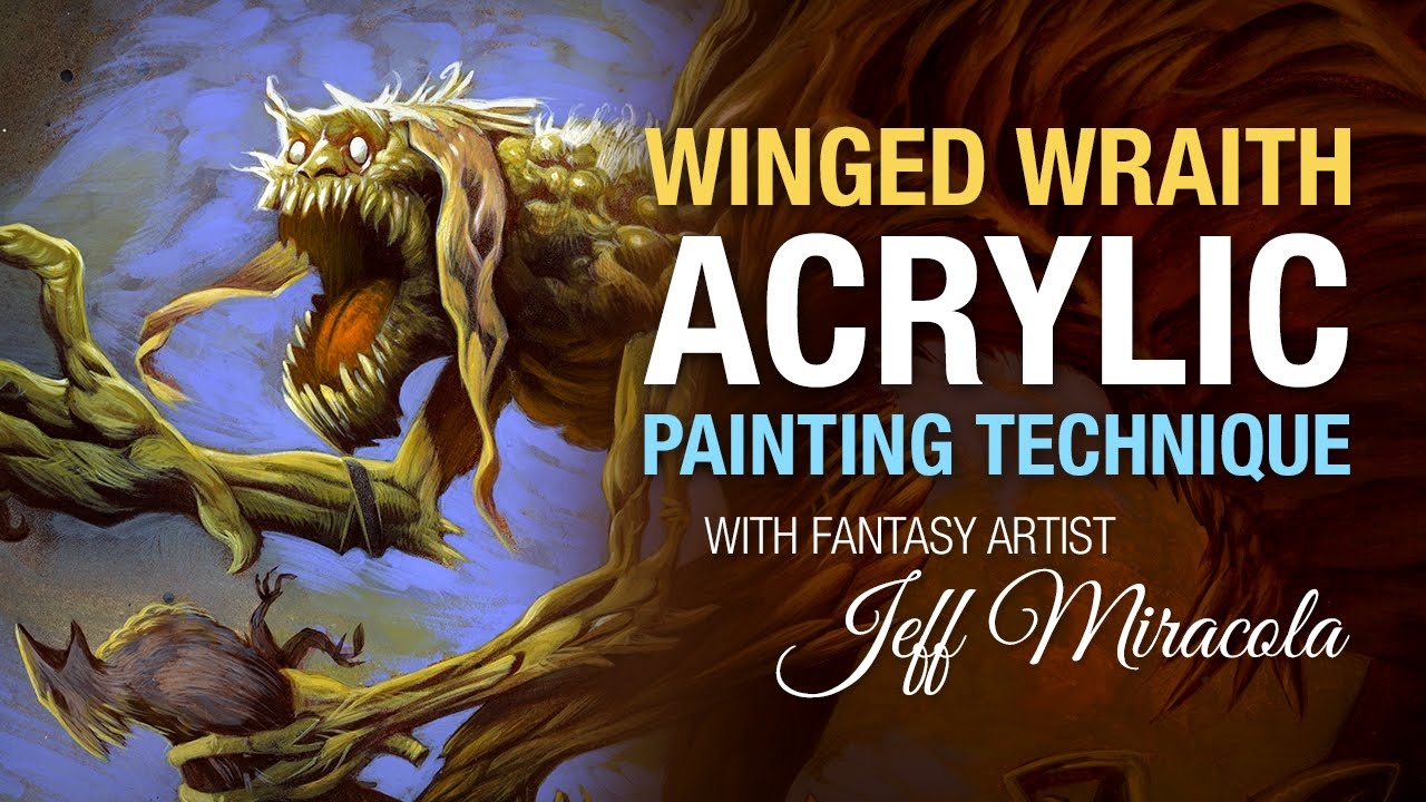 winged wraith acrylic painting technique by fantasy artist jeff