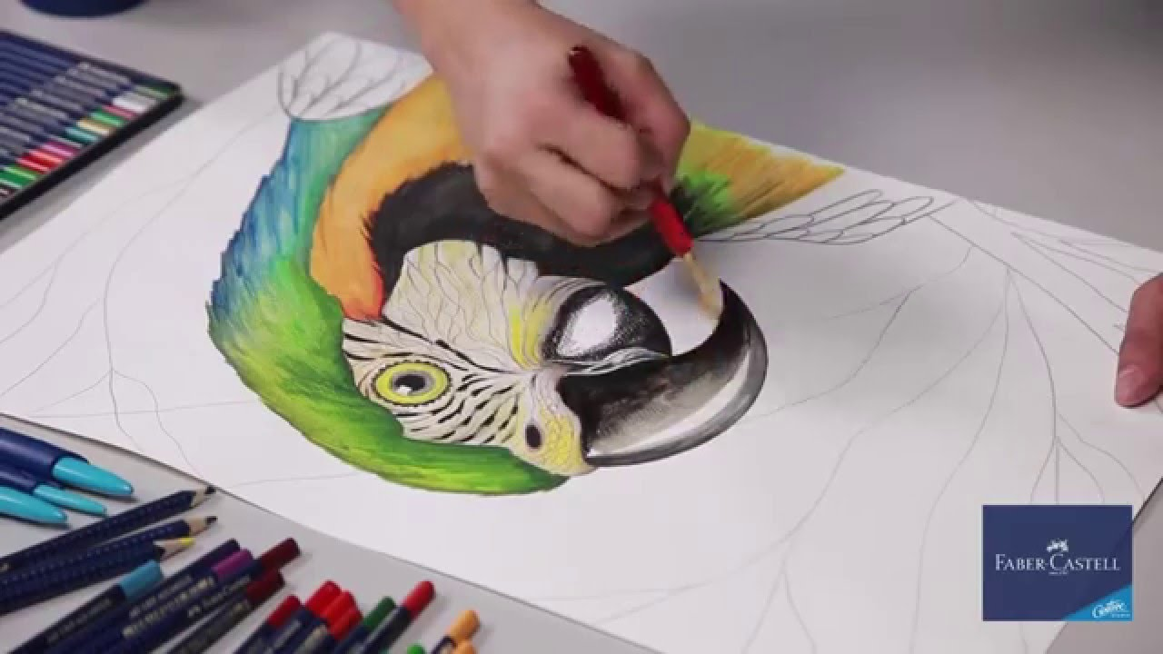 Faber Castell Pinturas Acuarelables Акварелни моливи - Art Grip Aquarelle Faber Castell - Youtube