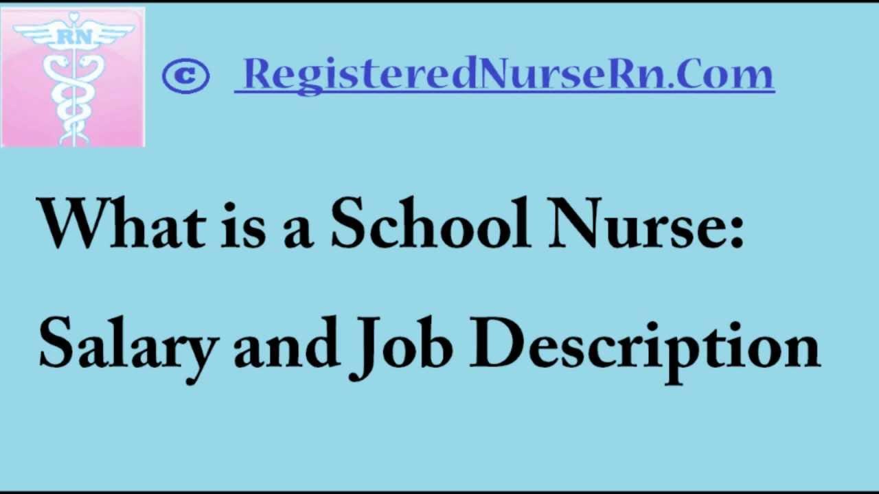 school nurse | salary and job description - youtube, Human Body