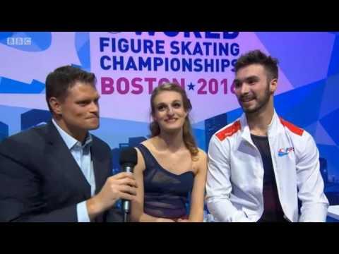 Interview with Gabriella PAPADAKIS / Guillaume CIZERON - 2016 World Championships