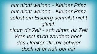 Rosenstolz - Kleiner Prinz Lyrics