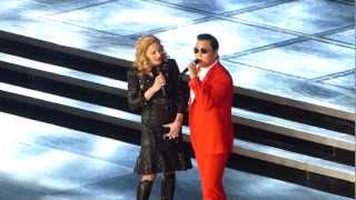 v dna tour new york city 11 13 12 madonna ft psy give it to me gangnam style music