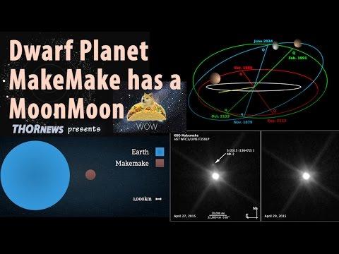 Dwarf Planet MakeMake has a MoonMoon !