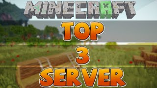 TOP 3 SERVER MINECRAFT 1.8 (Pirata e Original)