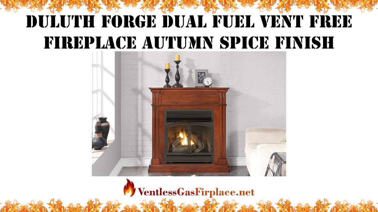 duluth forge dual fuel vent free fireplace remote control