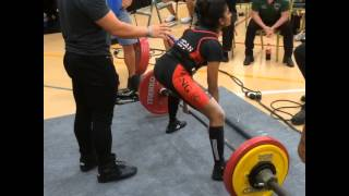 Payal Ghosh New American Deadlift Record 359 lbs at 105 lb class