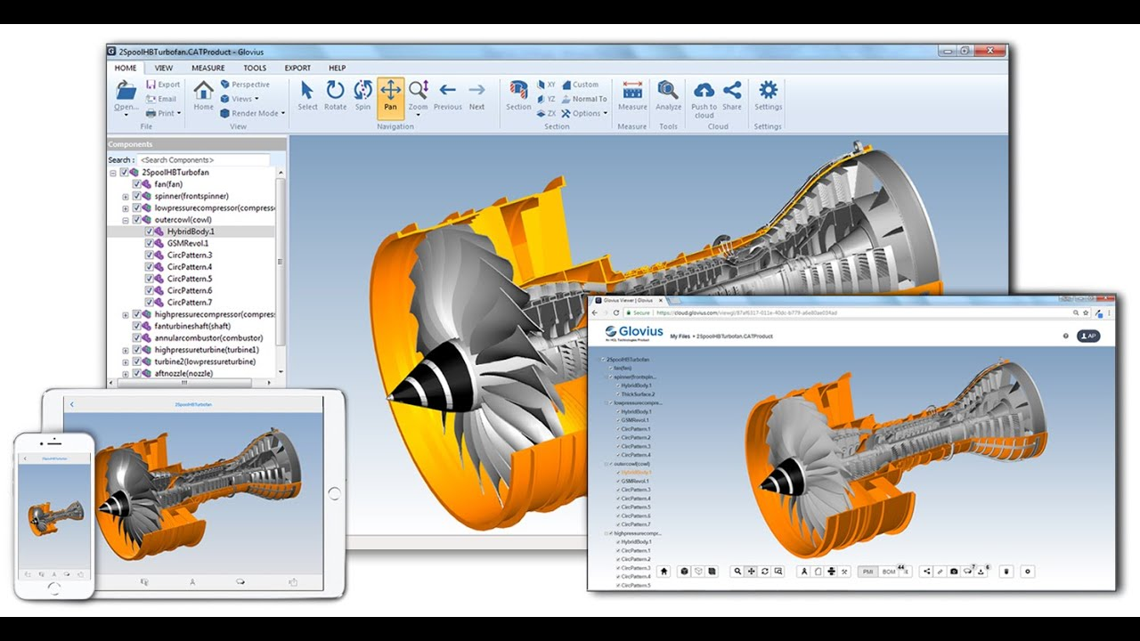 3D CAD Viewer for CATIA, STEP, IGES, Creo, SolidWorks, NX