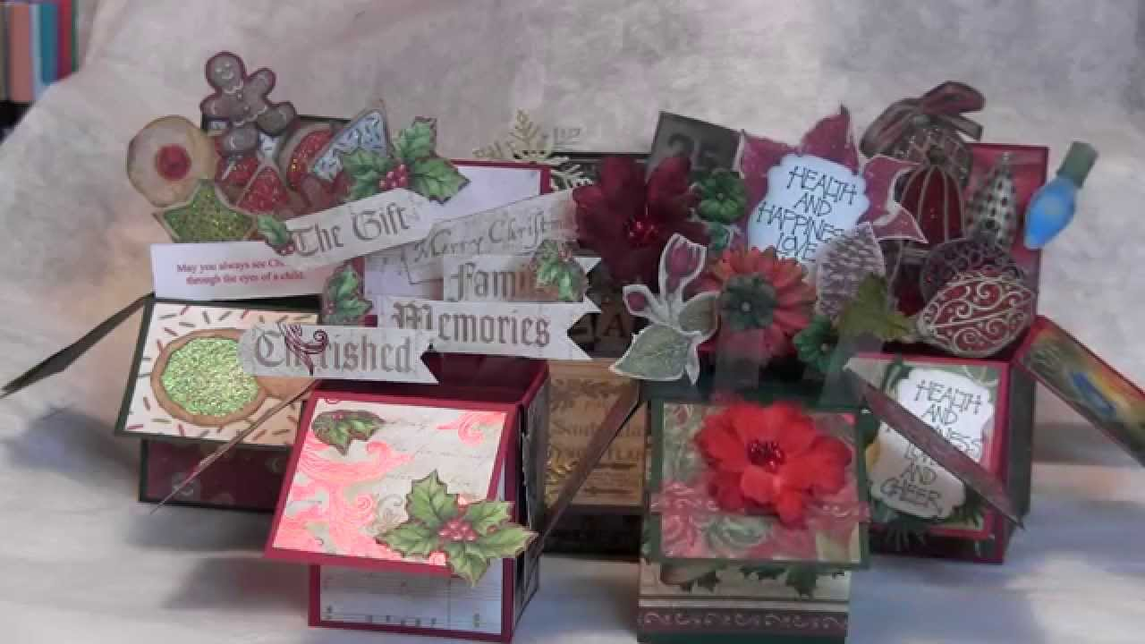christmas card challenge june 2014 card in a box youtube. Black Bedroom Furniture Sets. Home Design Ideas