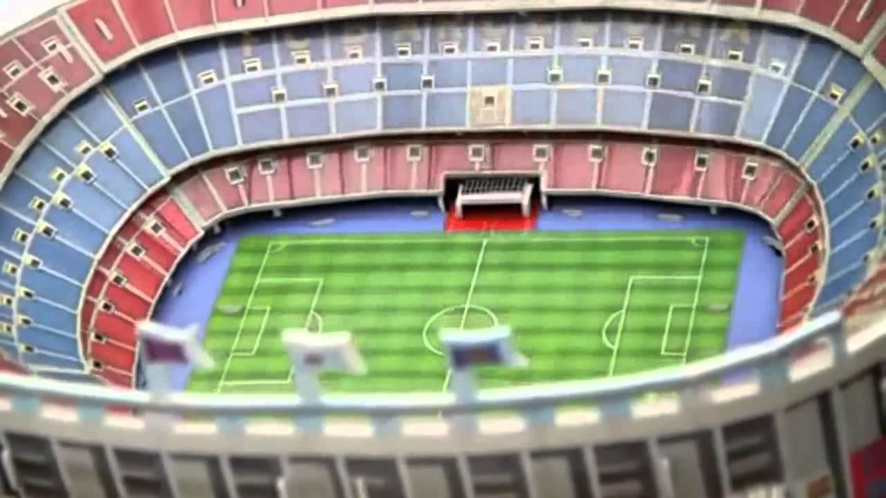 stadion puzzle 3d camp nou barcelona youtube. Black Bedroom Furniture Sets. Home Design Ideas
