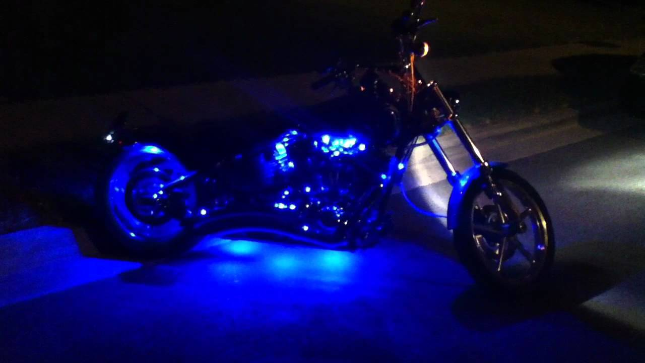 Harley Rocker C XKGlow LED Light Kit - YouTube