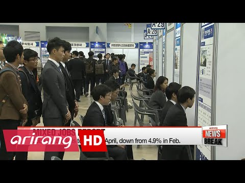 Korea's jobless rate falls in April, youth unemployment still high