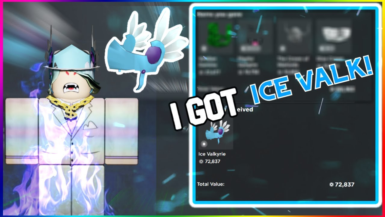 We Got Ice Valkyrie Huge Overpay Roblox Trading Youtube