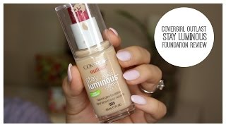 covergirl stay luminous foundation review   bailey b