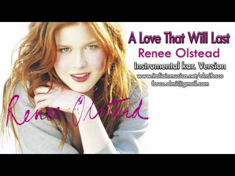 A Love That Will Last   Renee Olstead  instrumental karaoke HD