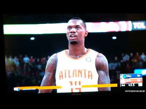 Atlanta Hawks vs Dallas Mavericks NBA 2K19 gameplay