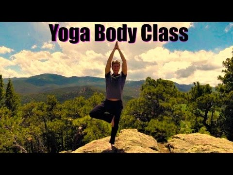 25 Min Yoga Body Workout and Breath Class - Power Yoga Strength in Colorado Mountains #poweryoga