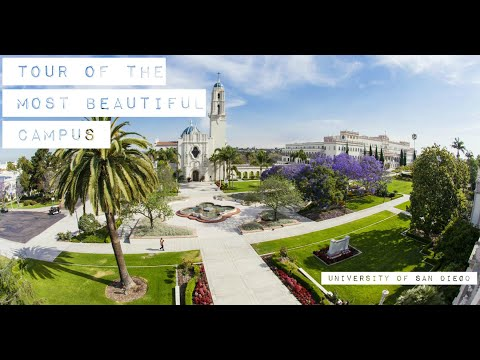 University Of San Diego Campus Tour (MOST BEAUTIFUL CAMPUS)