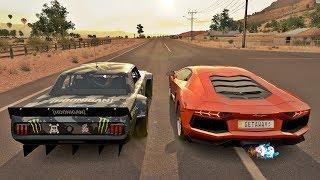 Forza Horizon 3 - Lamborghini Aventador VS Mustang Do Ken Block Hoonicorn V2 Com 1.400 Cavalos
