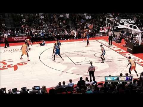 易建联重返NBA首颗3分!(20/10/2016)+D Angelo Russell 晃倒Curry!!