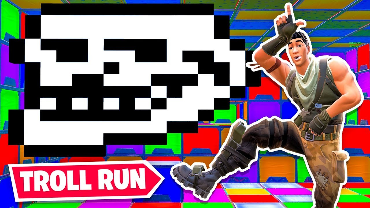 The *NEW* TROLL Death Run in Fortnite!