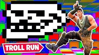 The *NEW* TROLL Death Run in Fortnite!