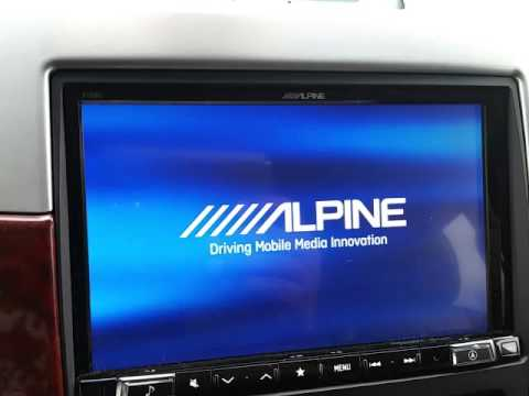 Alpine X108u backup camera setting.