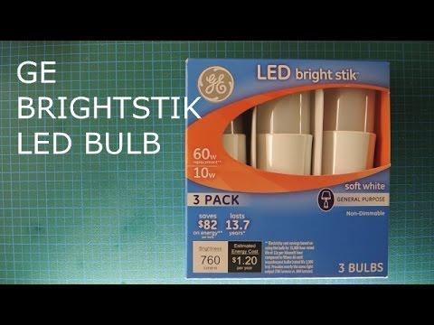 Ge Bright Stik Led Bulb Rise Of The Multi Pack Youtube
