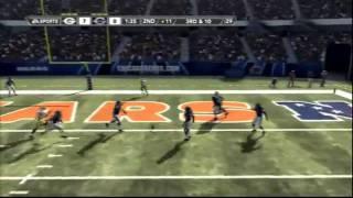 madden 12 green bay vs chicago gameplay highlights