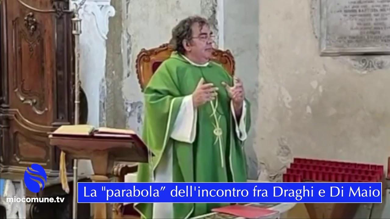 """Paola, la """"parabola"""" a fine Messa dell'incontro fra Draghi e Di Maio"""