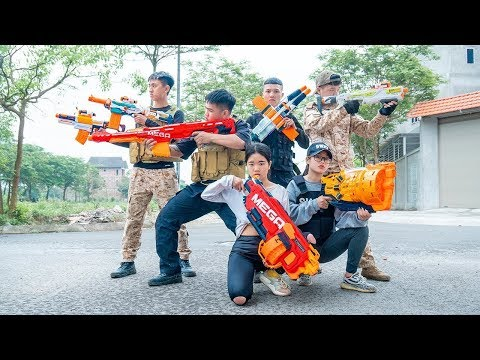 Nerf War Couple Assassin's Creed Nerf Guns Special Force SWAT Military Mission Impossible Nerf Movie thumbnail