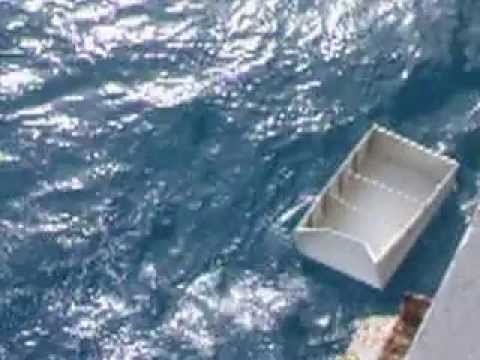 How to dump trash, US Navy style.