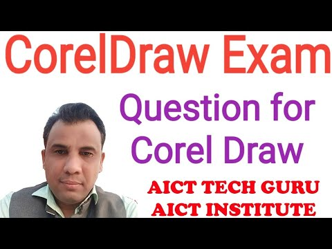 Coreldraw exam, coreldraw question paper, DTP, Graphic Designing