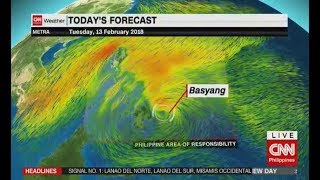 Typhoon 'BASYANG' Latest Update feb 13 2018 basyang Palakas na papasok nang pilipinas