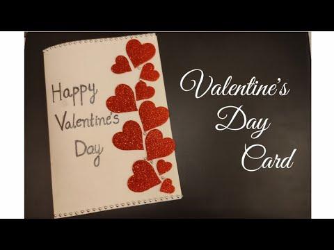 Valentine's day Card   Handmade Valentine's Day Cards    Valentine's Day crafts   Simple Crafts  