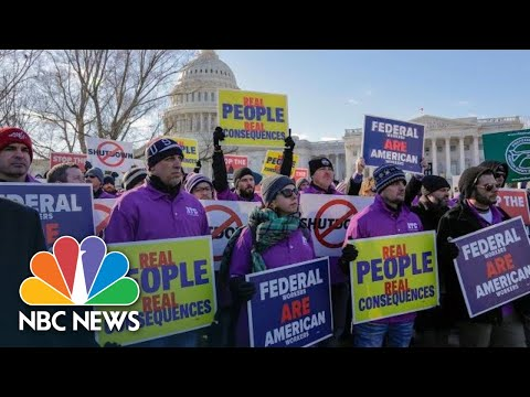'Do Your Damn Job!' Federal Workers Demand End To Government Shutdown | NBC News