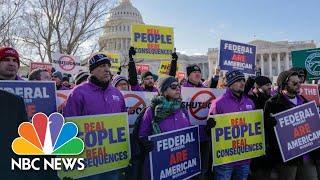 'Do Your Damn Job!' Federal Workers Demand End To Government Shutdown   NBC News