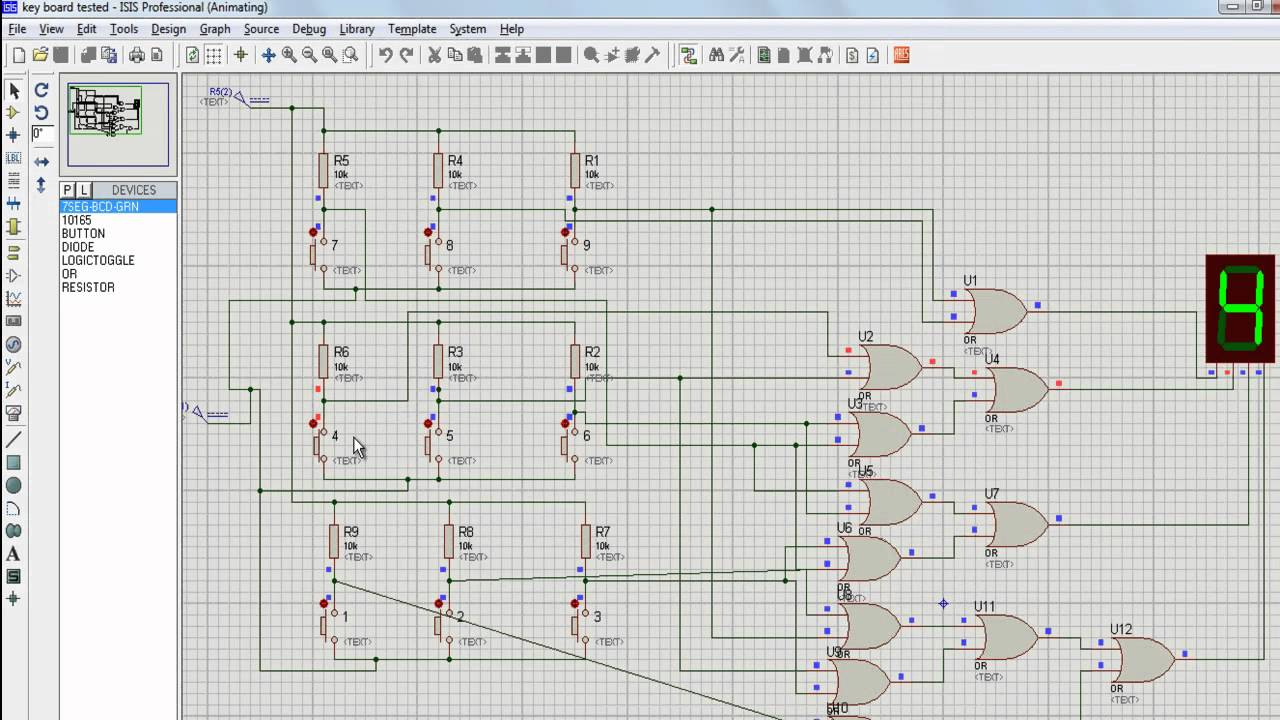 How To Make A Keypad Using Logic Gates And Buttons Proteus