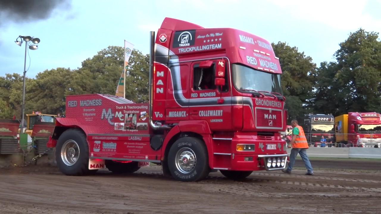 Truckpulling Red-Madness MAN V10 Cromvoirt 2017 pull3