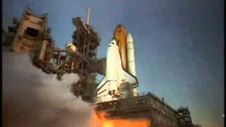 Closeup IMAX Camera On Launch Pad Captures Space Shuttle Launch