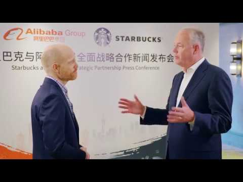 Starbucks CEO Says Alibaba Tie-Up Is Transformational for Chinese Consumers