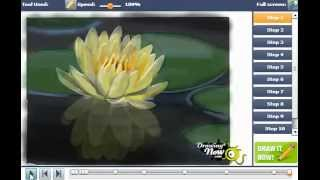 How Draw Lotus Flower Water Lily