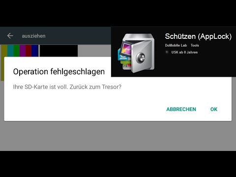 Android App: AppLock - Ihre SD-Karte ist voll! / Lösung [German HD Tutorial]