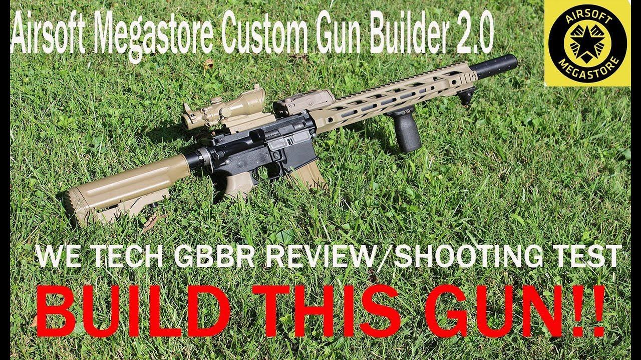 airsoft megastore custom gun builder custom we tech gbbr