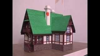 Макет дома каркасного(fachwerkhaus),из картона и бумаги.(, 2015-10-17T17:30:37.000Z)