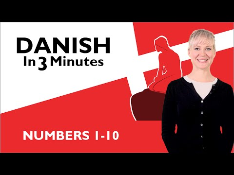 Learn Danish - Numbers 1-10
